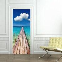 3D Seaside Plancon Naklejki Ścienne Naklejka Art Decor Vinyl Wymienny Plakat Sceny Okna Drzwi Hurtowni Darmowa Wysyłka RJL13 # A10