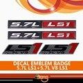 2x Black Red Chrome Etiqueta Adesiva Metal + 2x LS1 5.7L V8 LS1 5.7L Emblema Do Emblema