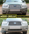 Mesh grille case for Subaru Forester II 2005-2008 car styling molding decoration protection chrome pad cover stainless