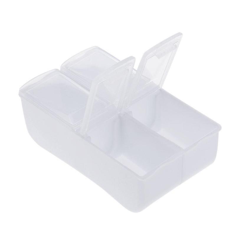 Путешествия 4 сетки медицина коробка Пластик ящик для хранения ювелирных изделий мини контейнер с наркотиками таблетки хранения Pill Коробки...