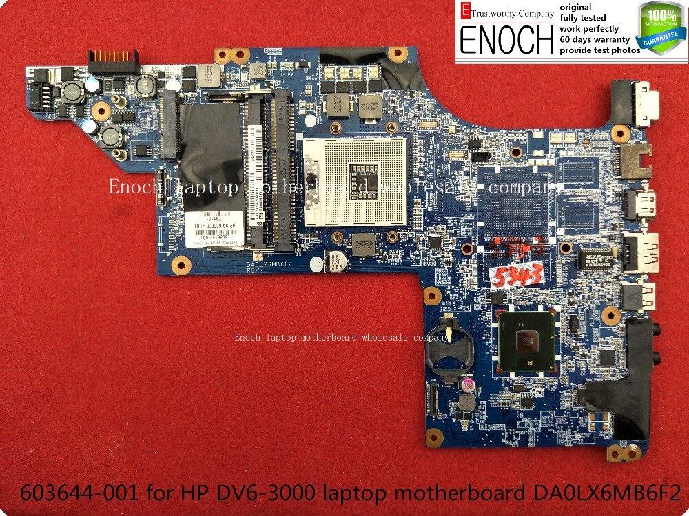 все цены на  603644-001   for HP DV6-3000 laptop motherboard integrated  DA0LX6MB6F2 HM55   store No.216  онлайн