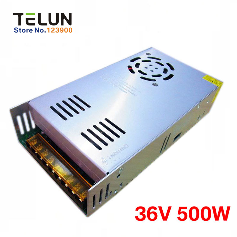Free Shipping DC36V 500W 13A AC220V or 110V to 36V DC Regulated Transformer Switching Power Supply Battery Charger power adapter free shipping 1000w 36v dc brushless