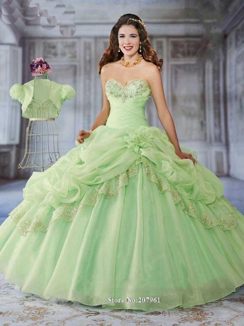 Gardlilac Sweetheart Bordado Con Cuentas Verde Menta Vestidos de Quinceañera Barato Vestido De 15 Anos de Debutante vestido Párr Debutantes