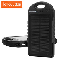 Tollcuudda Solar Phone Power Bank 12000mAH For All Phone Mobile Battery Waterproof Charger Solar Poverbank Portable