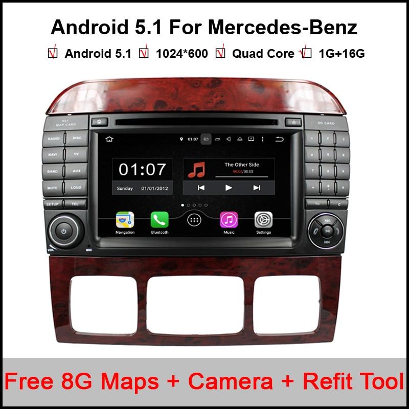 Android 5.1.1 Car DVD for Benz S Class W220 S280 S420 S430 S320 S350 S400 S500 S600 S W220 (1999-2006) CL-W215(1998-2005)