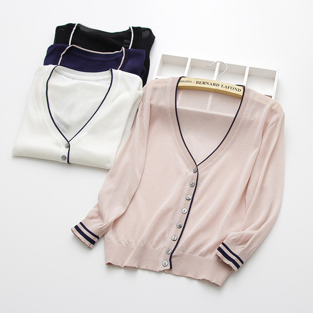 special price, thin knitted linen sweater, women's cardigan jacket, 2019 summer thin sunscreen, short air conditioning shirt. 1