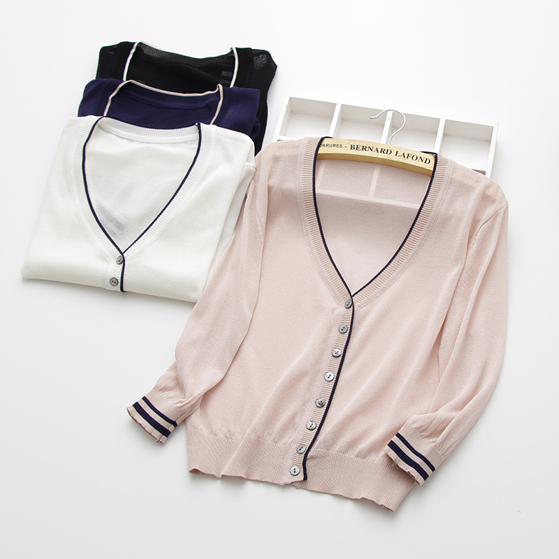 special price thin knitted linen sweater women 39 s cardigan jacket 2019 summer thin sunscreen short air conditioning shirt in Cardigans from Women 39 s Clothing