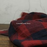 Original high end yarn dyed plaid texture, yarn dyed linen fabric, skirt dress fabric