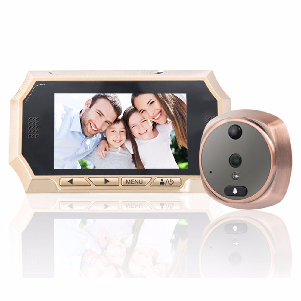516A 4.3 Inch LCD Screen 160 Degree Wide Angle Home Security Peephole Door Viewer Night Vision Digital Video Doorbell Camera ultra thin 2 8 inch lcd screen door bell viewer digital monitor peephole home doorbell security camera with night vision video