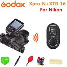 Godox XTR-16 Wireless 2.4G Power Control Flash + Xpro-N TTL Wireless for NIKON AD180 AD360 AD360II V860 V850 AD600Pro Flash