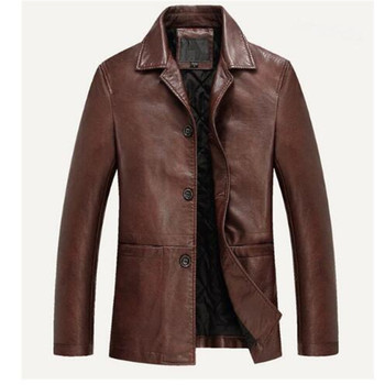 2018 Mens Leather Jacket Spring Autumn Motorcycle Soft PU Leather Jackets Men Business Casual Jacket Jaqueta De Couro Size M-4XL