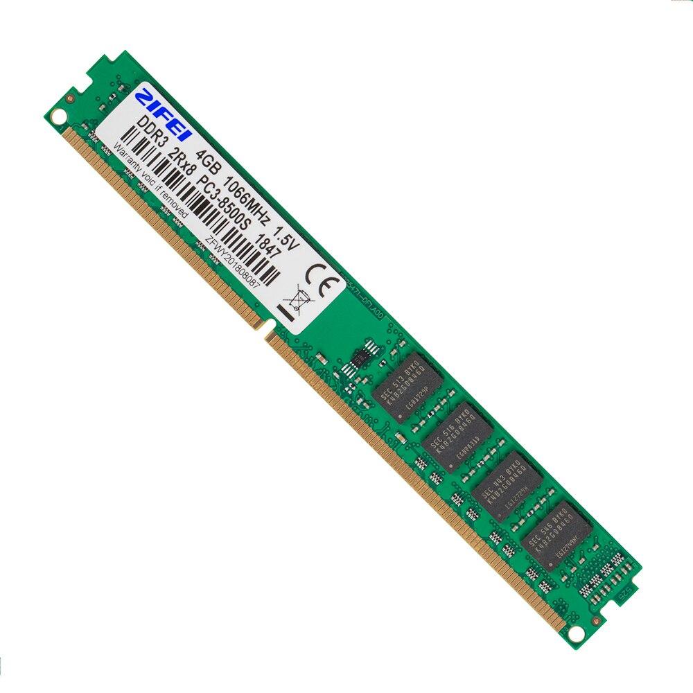 ZIFEI DDR3 4GB 2GB 1066 1333 1600 MHz 1.5V DIMM ordinateur de bureau de mémoire RAM travailler avec Intel & AMD