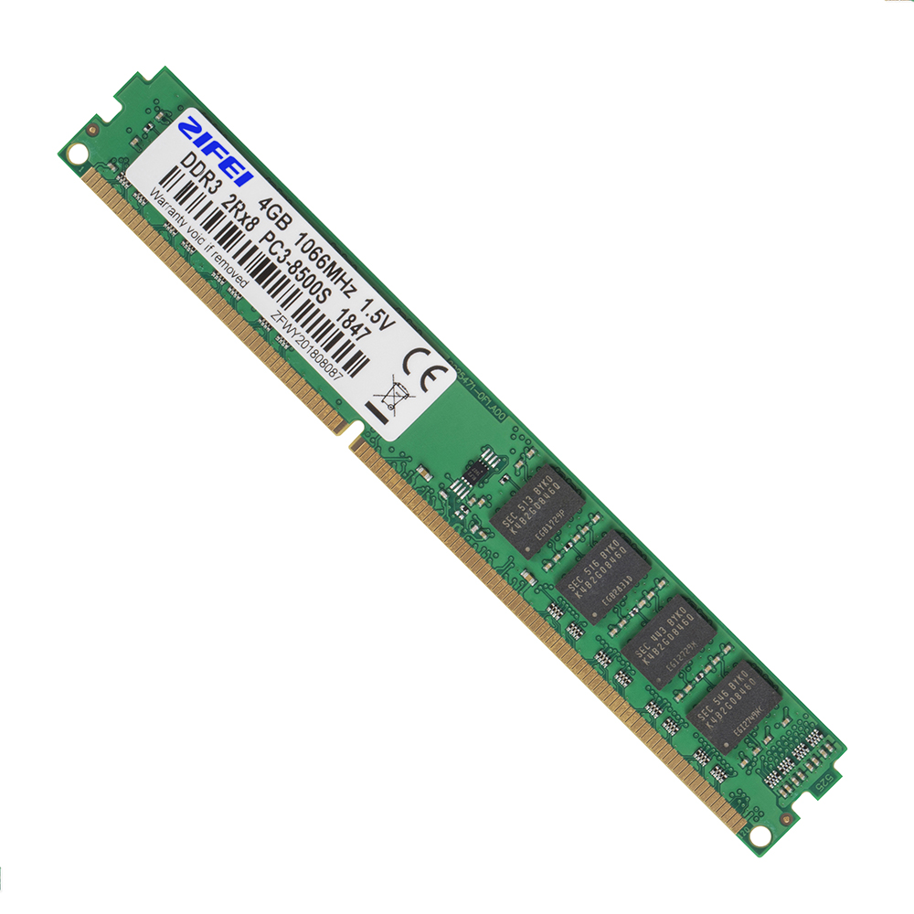 ZIFEI DDR3 4GB 2GB 1066 1333 1600 MHz 1.5V trabalho Memória RAM DIMM de Desktop com Intel & AMD
