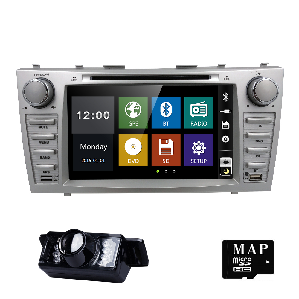 2 Din AutoRadio Car DVD Multimedia For Toyota Camry 2007 2008 2009 2010 2011 Aurion 2006 Head Unit GPS Navigation RDS USB SWC BT цены онлайн