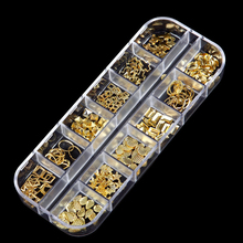 4kinds Drilling Jelly Color Rhinestones Flat Bottom Metal Studs Laser Rivet Beads Decor Manicure 3D Nail Art Decoration in цены