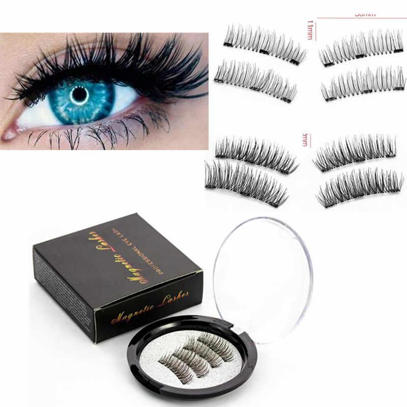 e173dd1ba2f Maquiagem Profesional Make Up 3D Magnetic Eyelashes with 3 Magnets Handmade  Lashes Mink False Eyelashes Magnet
