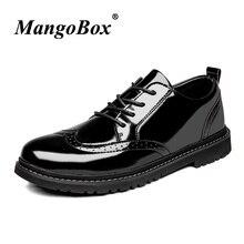 9874e5b1f Clássico Brogue Sapatos Para Homens de Negócios Confortável Calçado Adulto  Pu de Couro Sapatos Casuais Masculinos