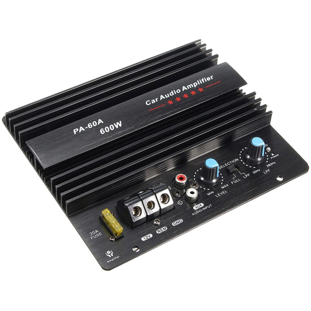 12V 600W PA-60A Динамик сабвуфер бас-модуль высокое Мощность автомобильный аудио аксессуары подойдет как для повседневной носки, так канала прочн...