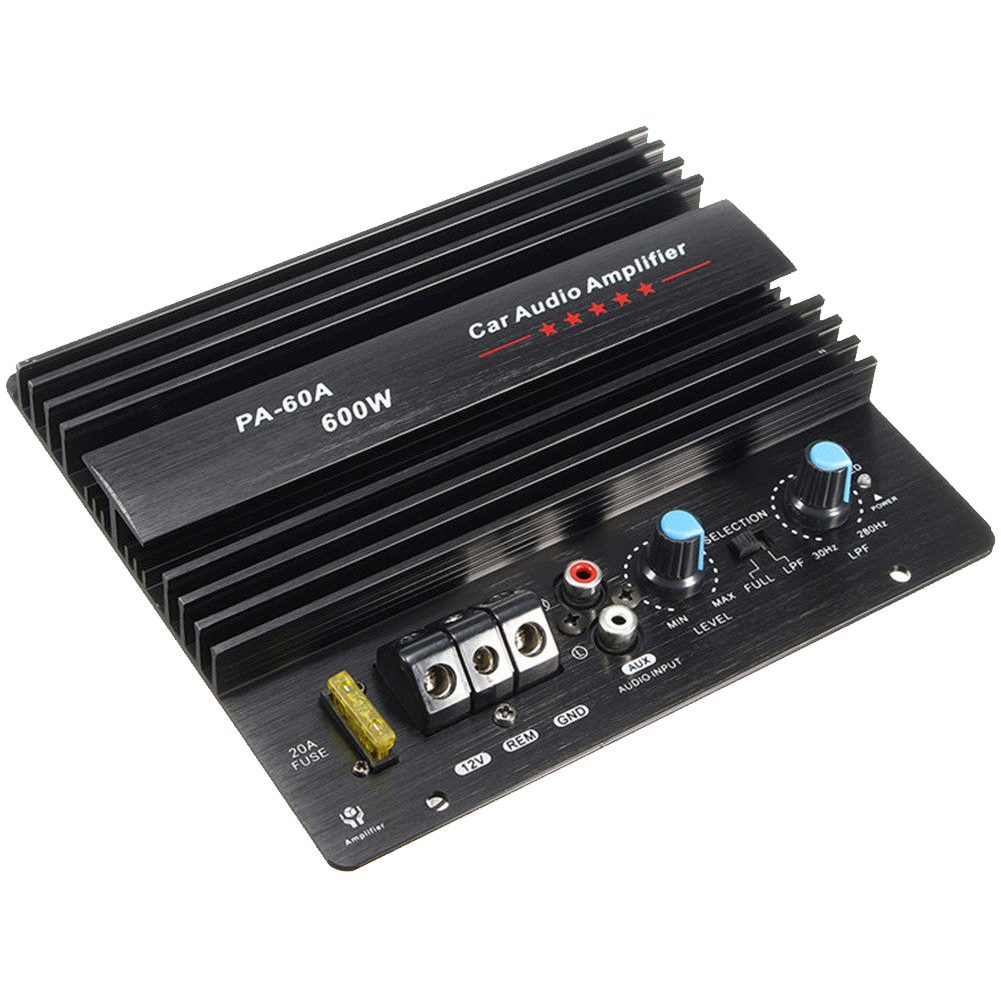 12V 600W PA-60A Speaker <font><b>Subwoofer</b></font> Bass Module High Power <font><b>Car</b></font> <font><b>Audio</b></font> Accessories Mono Channel Durable Lossless Amplifier Board image