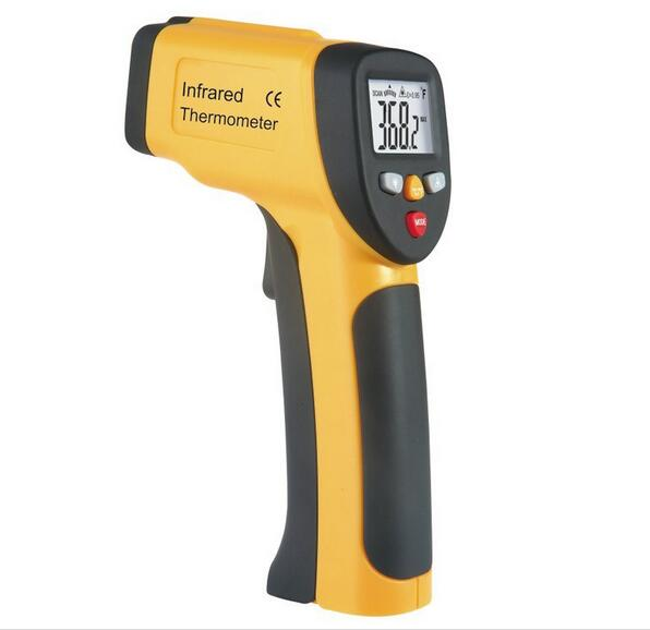 Free shipping HT-812 handheld infrared thermometer handheld thermometer portable infrared thermometer low cost wide range