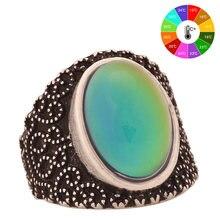 размер 8 марочные кулака большой камень кольцо посеребренной