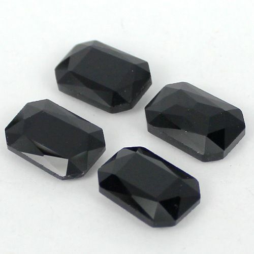 Jet Black Rectangle Shape Crystal Fancy Stone Point Back Glass Stone For DIY Jewelry Accessory.10*14mm 13*18mm 18*25mm 20*30mm black rhodium jet 5m