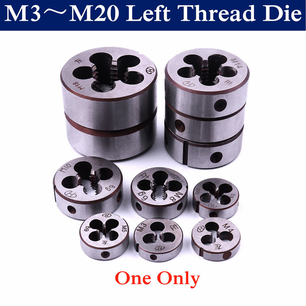 1PC Metric Threading Screw Circular Die M3 M4 M5 M6 M8 M10 M12 M14 M16 M18 M20 Left Hand Die Threading Tool For Mold Machining