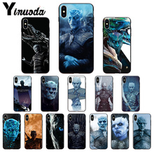 Yinuoda Game of Thrones1  Nights King Black TPU Soft Silicone Phone Cover for iPhone 5 5Sx 6 7 7plus 8 8Plus X XS MAX XR