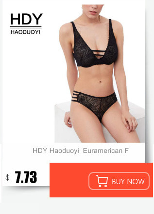 bc1f993f337d21 HDY Haoduoyi Solid Black Women Fashion Lace Trim Bralette Cross Straps  Underwear Soft Panties Sexy Adjustable Jacquard Bra Sets
