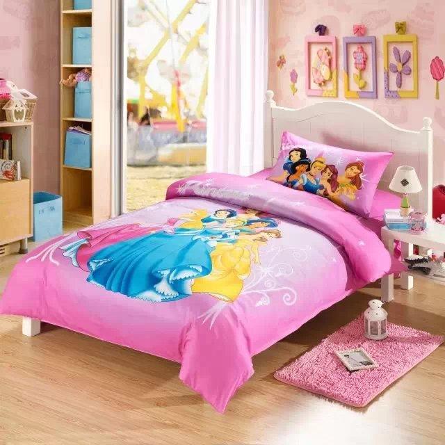 Muchachas de la princesa ropa de cama 3/4/5 unids catton de dibujos animados sis