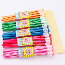 100pcs wooden pencil lot candy color pencils with eraser cute kids school office writing supplies drawing korean pencil graphite
