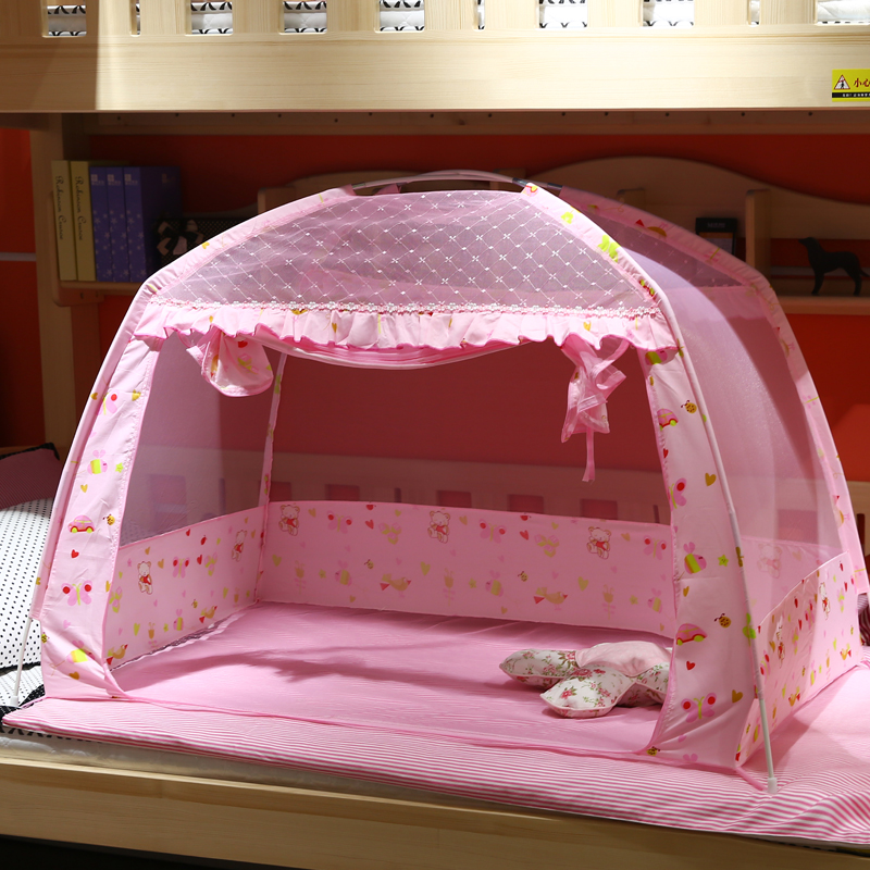 Pink Portable Baby Infants Insect Netting Mosquito Mesh Baby Cradle Canopy Bed Mosquito Nets Summer Baby Bed Crib Mosquito Tent