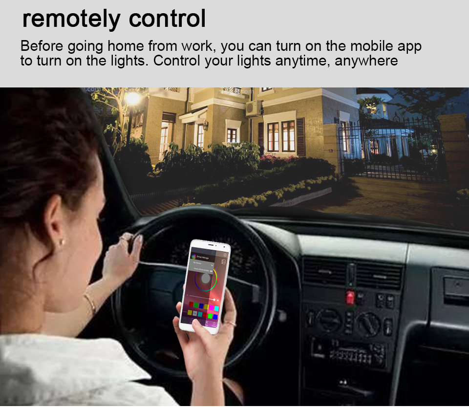 15W 20W 85-265V  RGBW LED Light Bulb Music Control 20 Modes Apply to IOS Android (10)