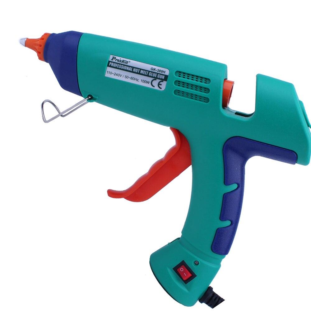 Pro'sKit GK-389H High Power 100W Constant Temperature Hot Melt Glue Guns Instant Heating Long-Life Manual Hot Melt Glue Gun