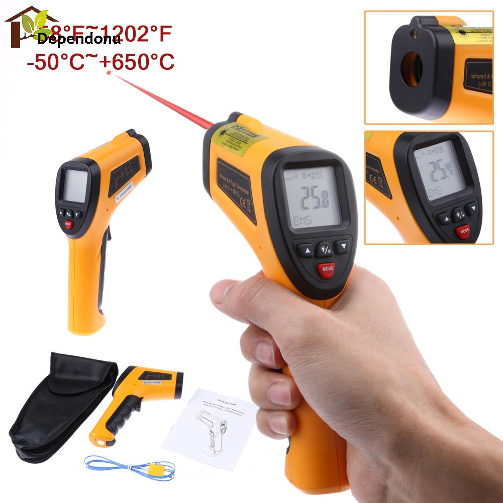 High Temperature PIR Digital Infrared Thermometer Non-contact Temperature Tester Laser Gun Type K Pyrometer Range -50--850Degree 2017 bside btm21c infrared thermometer color digital non contact ir laser thermometer k type 30 500 led