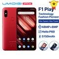 UMIDIGI F1 Play Android 9.0 6GB RAM 64GB ROM 48MP+8MP+16MP Cameras 5150mAh 6.3 FHD+ Helio P60 Global Version Smartphone Dual 4G
