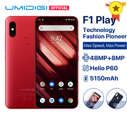 Перейти на Алиэкспресс и купить umidigi f1 play android 9.0 6gb ram 64gb rom 48mp+8mp+16mp cameras 5150mah 6.3дюйм. fhd+ helio p60 global version smartphone dual 4g