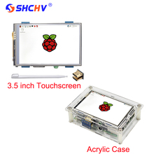 Best Buy Raspberry Pi 3 LCD 3.5 inch Touchscreen 480 x 320 HDMI Brightness Adjustable Display Module + Case + HDMI Adapter + Touch Pen