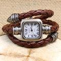 Fashion Roman Numbers Leather Band Wrist Women Watch Bracelet Watches Ladies