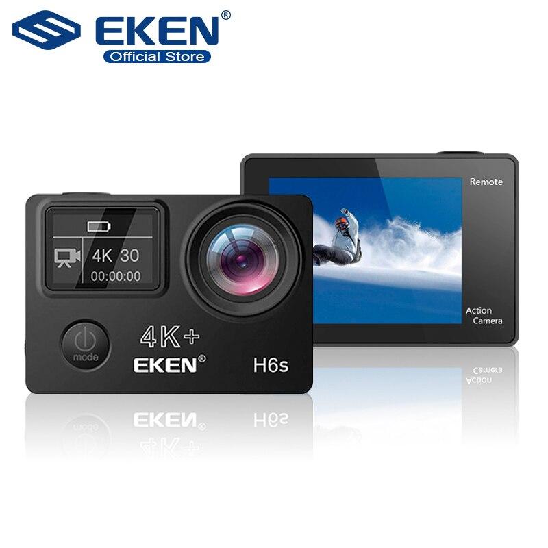 EKEN H6s 4 K + Ultra HD 14MP avec EIS caméscope Sport à distance Ambarella A12 puce Wifi 30 m étanche Panasonic capteur caméra d'action