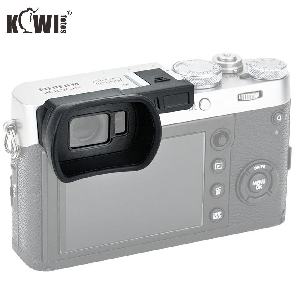KIWIFOTOS KE-X100FL Cameras Viewfinder Eyepiece Black Eyecup For Fujifilm X100F Camera Eye Cup With Hot Shoe Cover