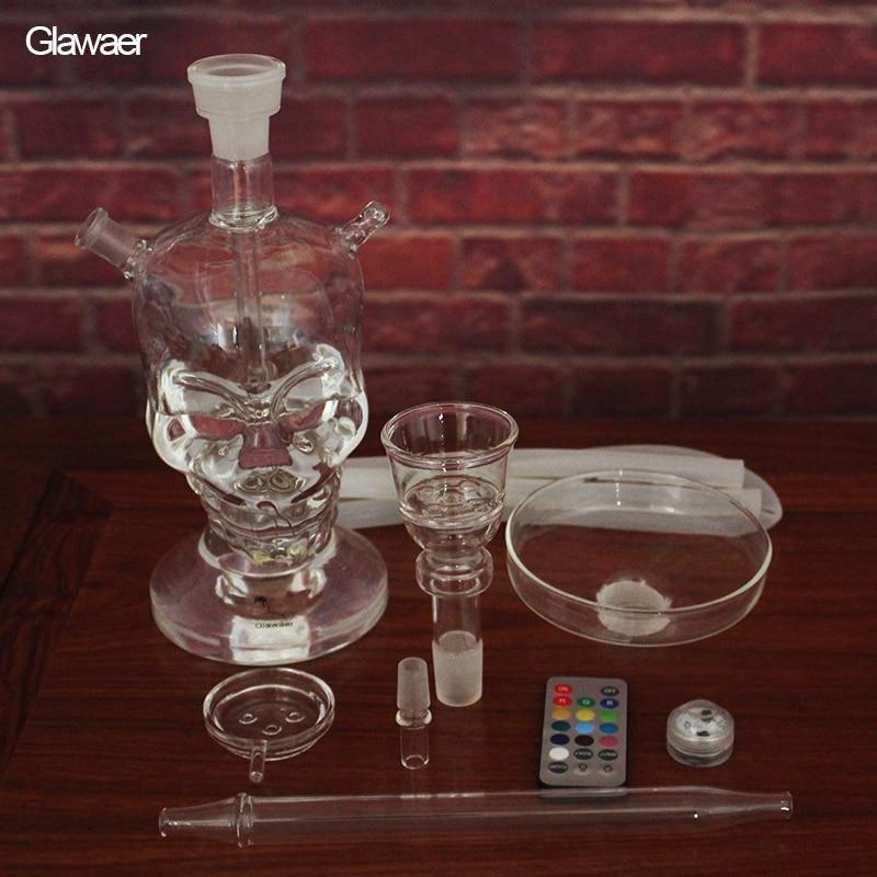 Skull Design 82004 New Glass Hookah chicha Narguile H38cm - საყოფაცხოვრებო საქონელი - ფოტო 3