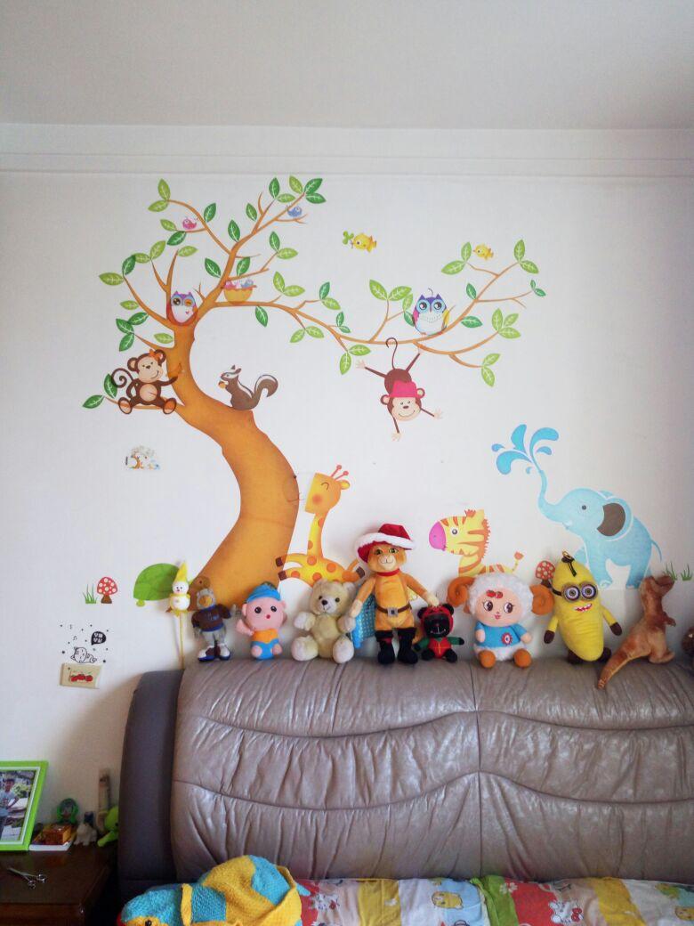 Aliexpress.com : Oversize Dschungel Tiere Baum Affe Owl Abnehmbare ...