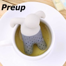 1pc Useful Mr Tea Infuser Pure Soft Silicone Rubber Loose Tea Leaf Strainer Herbal Spice Filter Diffuser FOR Kitchenware Gadgets
