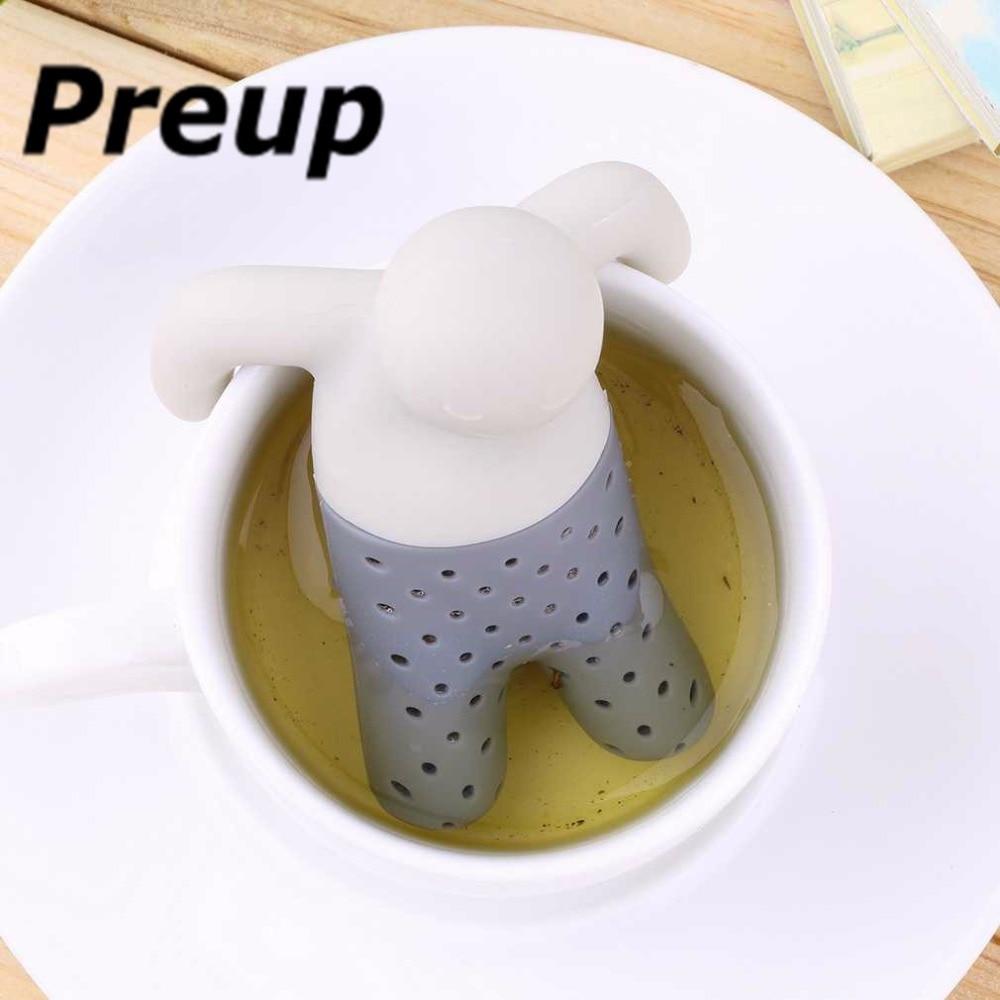 1pc 2016 New Arrival Human Shape Teapot cute Mr Tea Infuser/Tea Strainer/Coffee & Tea Sets/silicone Mr tea Free Shipping