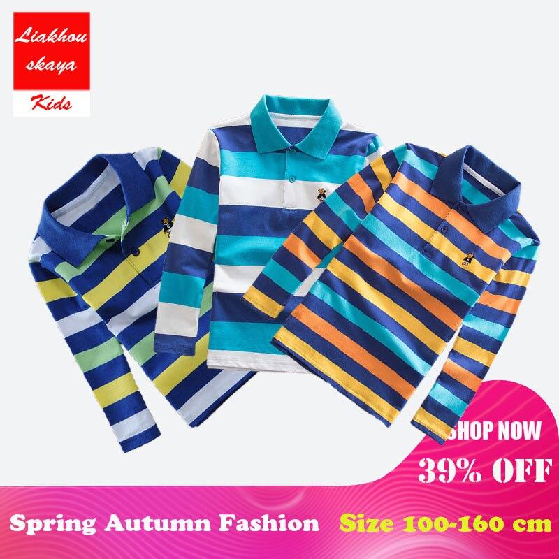 Liakhouskaya Tees Polo-Shirts Spring Long-Sleeve Boys Kids Fashion Children School-Clothes