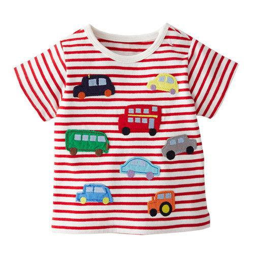 Автомобили автомобильные 2015 летние новые мальчики футболка с короткими рукавами футболка розничные дети дети девочек полосатые бренд одежды