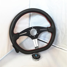 2016 new hot universal  14-inch ND leather steering wheel