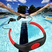 Waterproof Sports MP3 Music Player FM Radio Stereo Audio Earphone Underwater Neckband Swimming Diving with Waterproof Headset