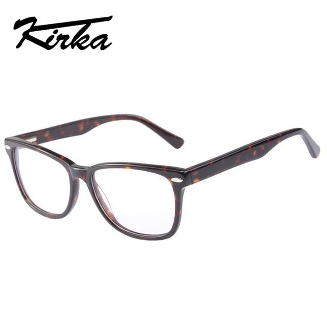 0cee00bc01 Kirka Hot Unisex Vintage Square Eye Glasses With Clear Lens, Women Men  Plain Mirror Prescription Myopia Optic Frame Eyeglasses